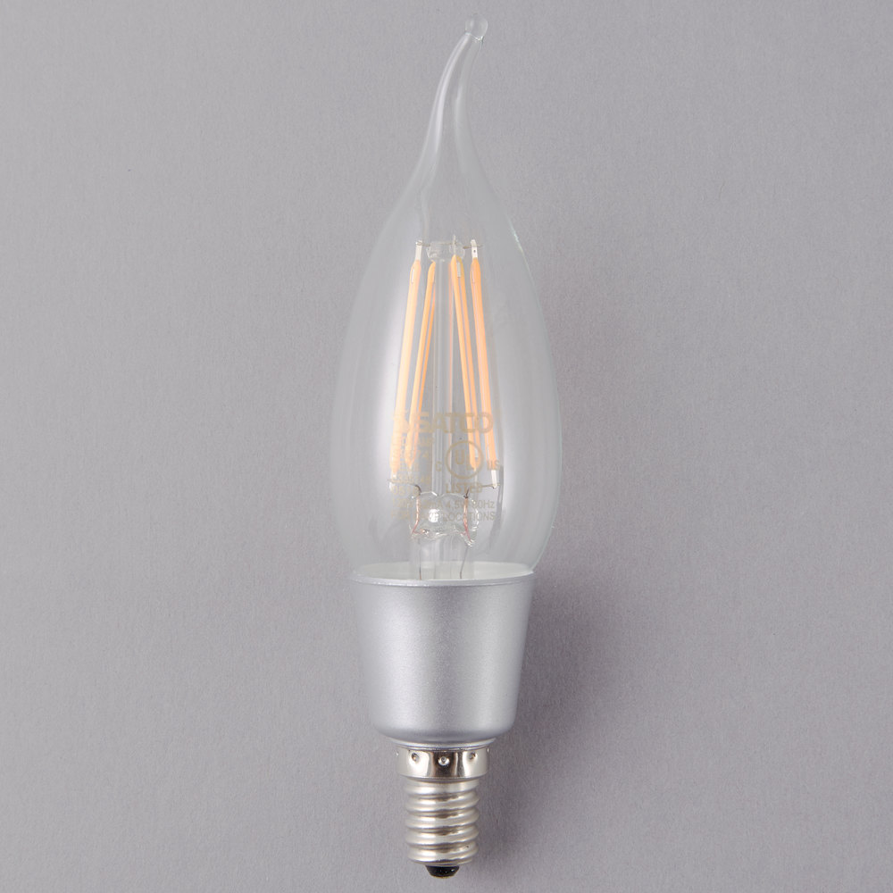 satco s9574 4 5 watt 40 watt equivalent clear warm white led light bulb with candelabra base. Black Bedroom Furniture Sets. Home Design Ideas
