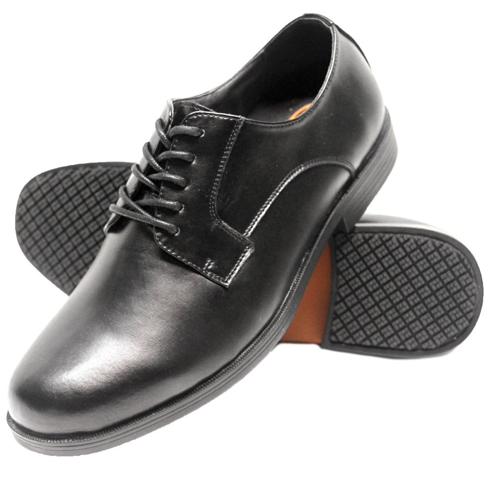 Mens Black Non Slip Work Shoes