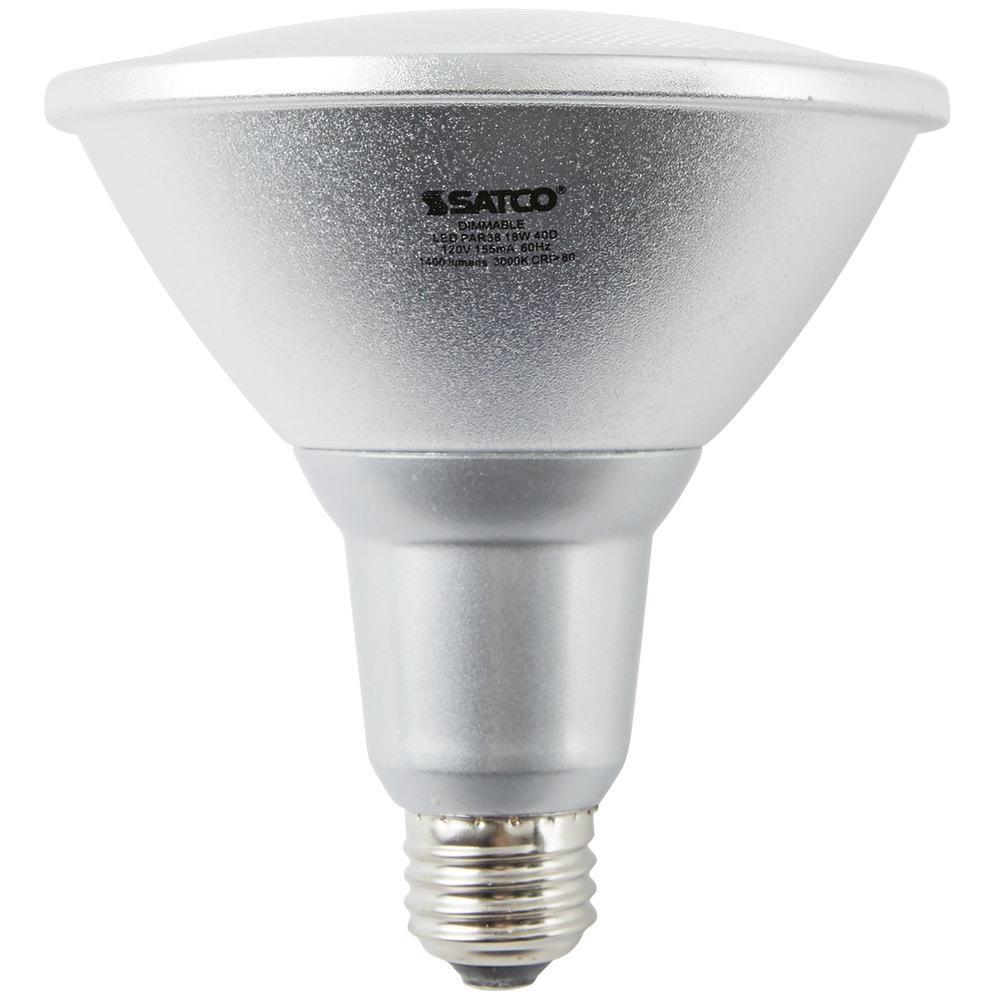satco s9455 18 watt 100 watt equivalent warm white indoor outdoor led reflector light bulb. Black Bedroom Furniture Sets. Home Design Ideas