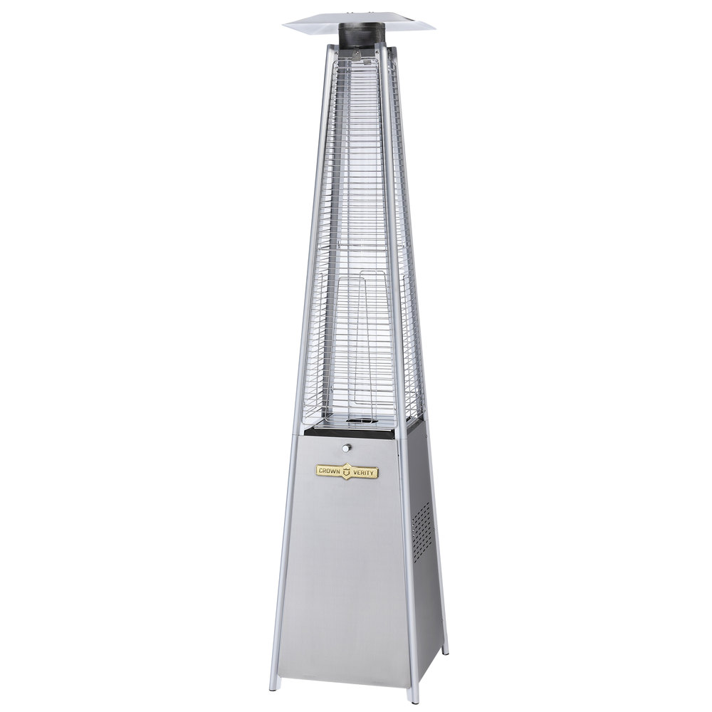 Crown Verity CV 2670 SS Liquid Propane Stainless Steel Outdoor Patio Heater  With Quartz Tube