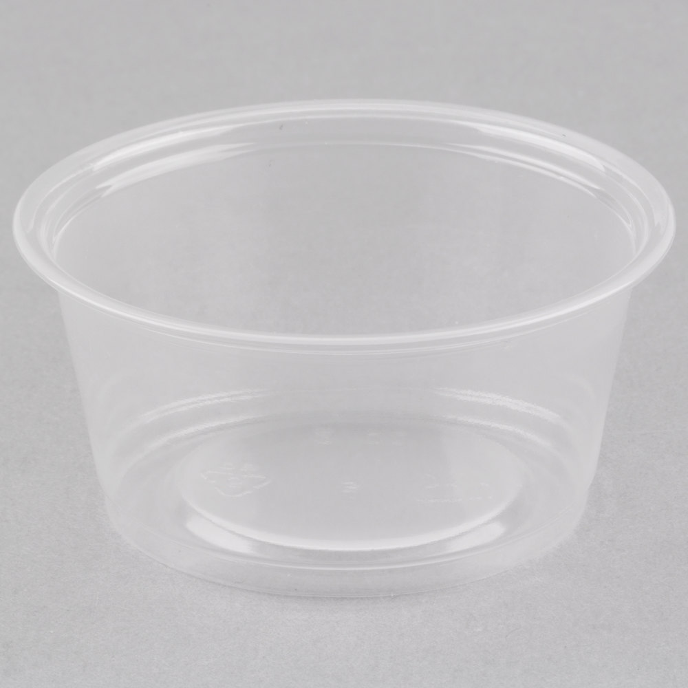 Choice 2 Oz Clear Plastic Souffle Cup Portion Cup