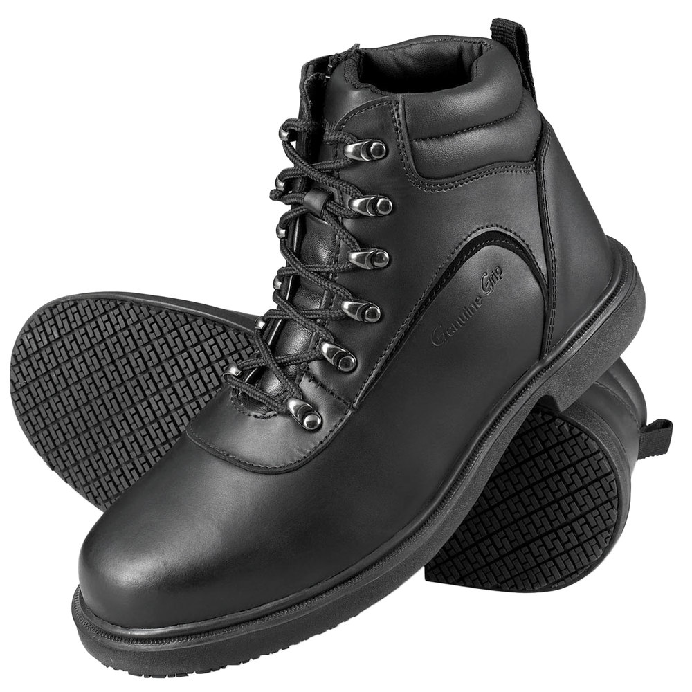 Genuine Grip 7130 Men's Size 16 Wide Width Black Steel Toe Non ...