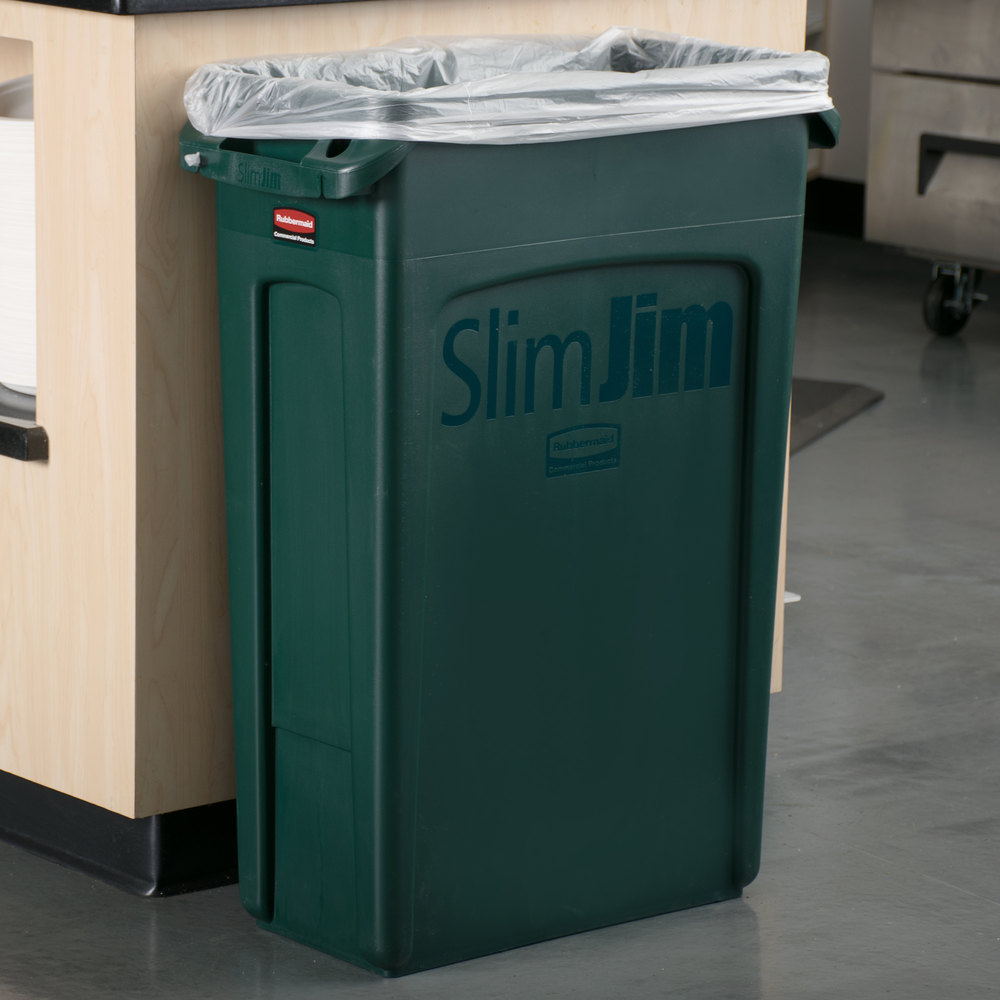 Rubbermaid Kitchen Trash Cans Rubbermaid Slim Jim Rectangular Trash Can Dolly Rubbermaid Beige