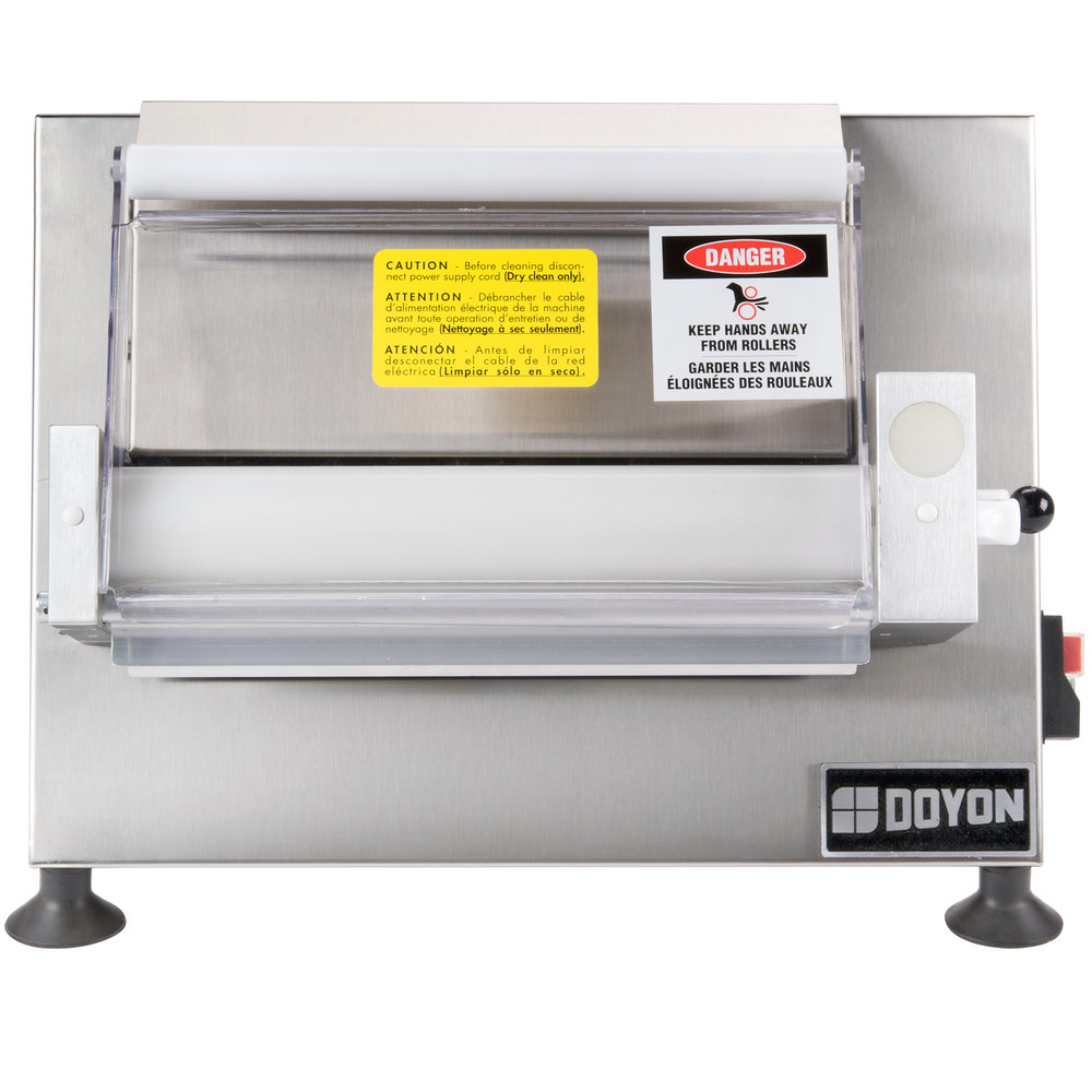 "Doyon DL12SP Countertop 12"" Dough Roller Sheeter - One Stage, Horizontal Rollers"
