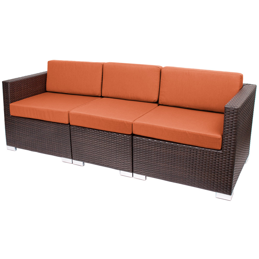 Seating PH5101JV-54010 Aruba Java Wicker Outdoor / Indoor Sofa ...