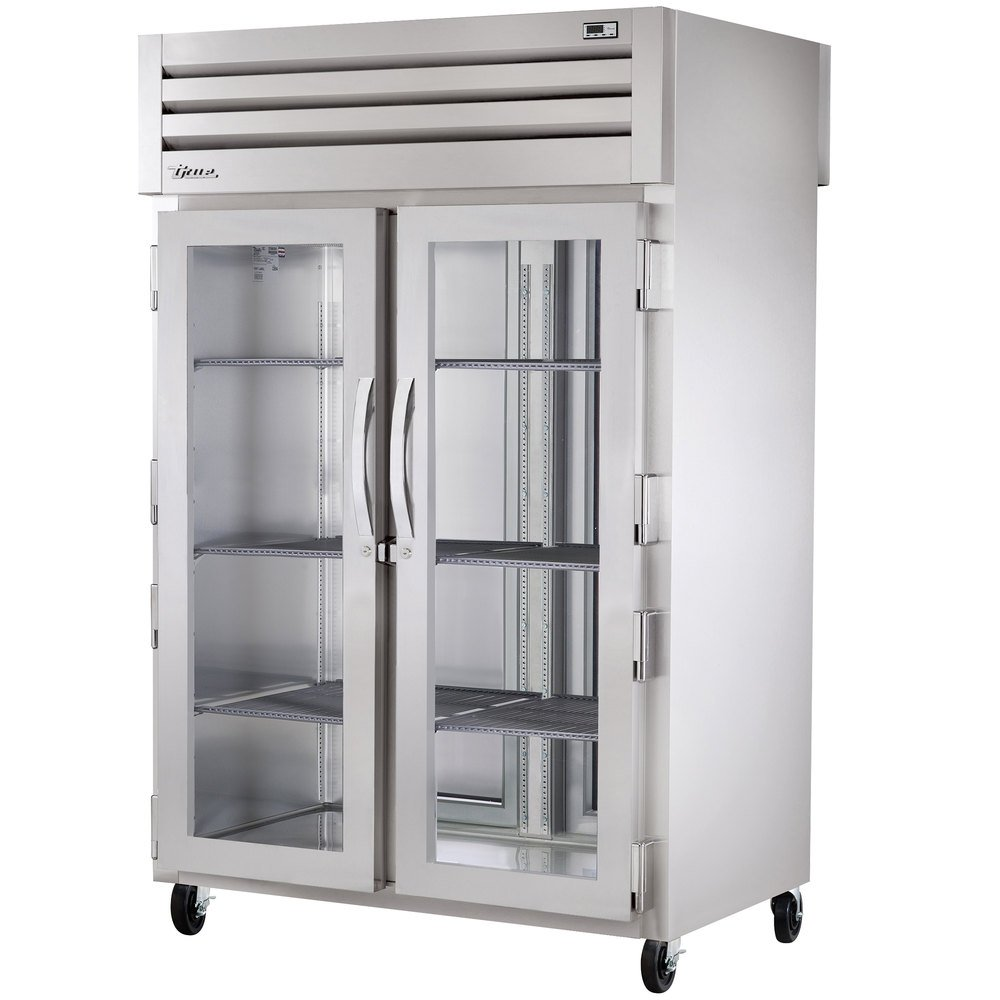 True STG2HPT-2G-2S Specification Series Two Section Pass-Through Heated Holding Cabinet with Front Glass Doors and Rear Solid Doors