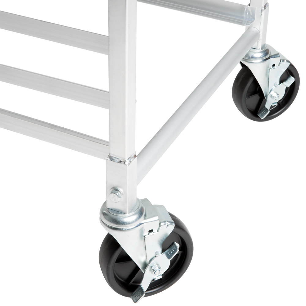 "Regency 5"" Polypropylene Swivel Stem Caster With Brake for Sheet Pan Racks"