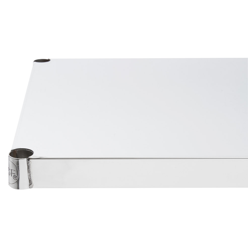 Regency 18 inch x 48 inch NSF Stainless Steel Solid Shelf