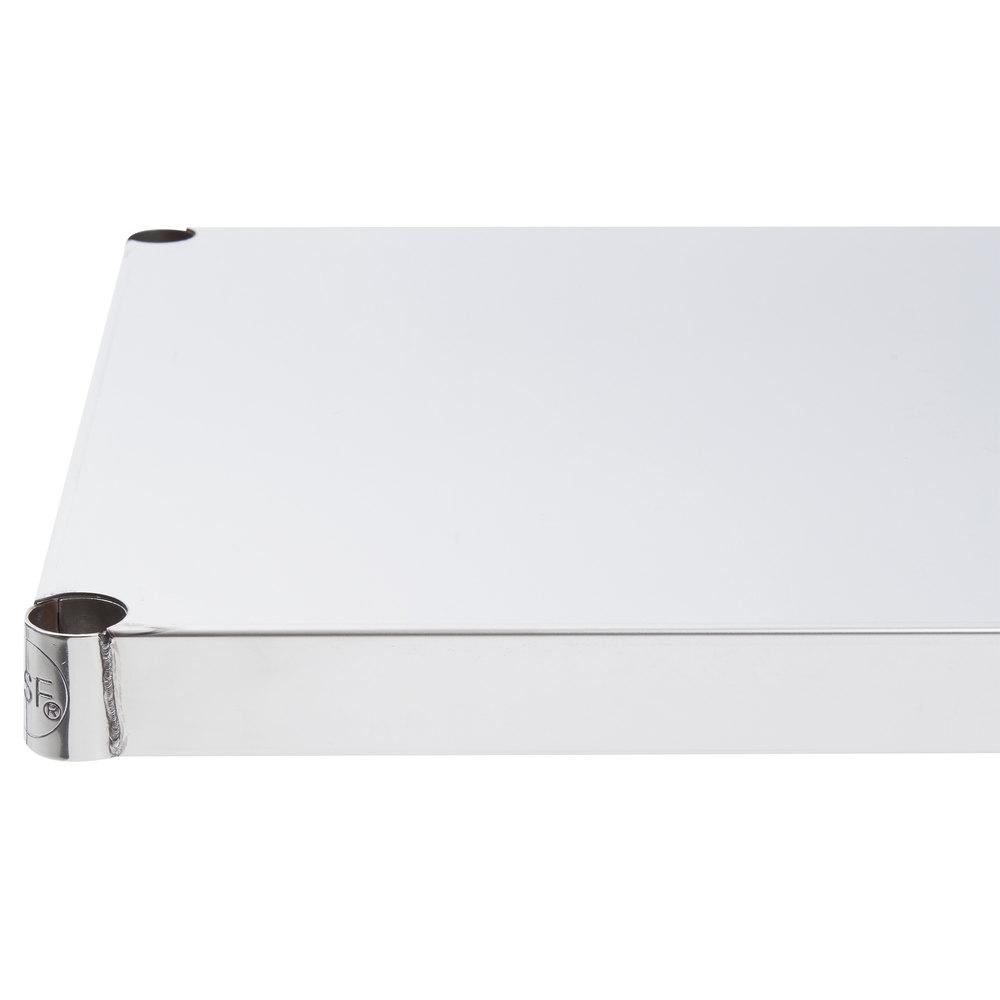 Regency 18 inch x 60 inch NSF Stainless Steel Solid Shelf
