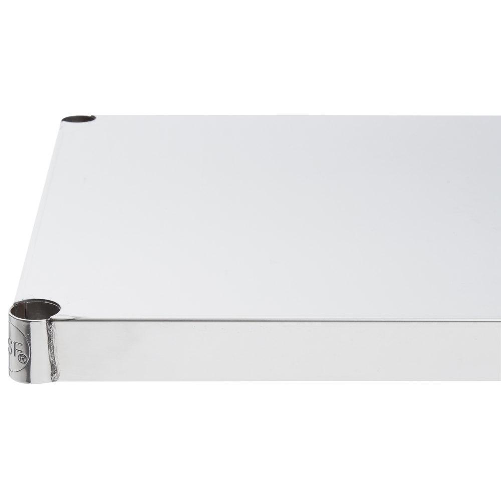 Regency 18 inch x 24 inch NSF Stainless Steel Solid Shelf