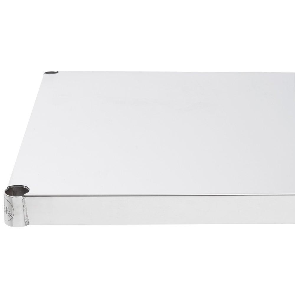 Regency 24 inch x 24 inch NSF Stainless Steel Solid Shelf