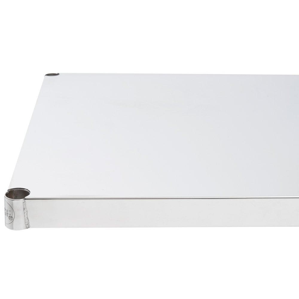 Regency 24 inch x 60 inch NSF Stainless Steel Solid Shelf