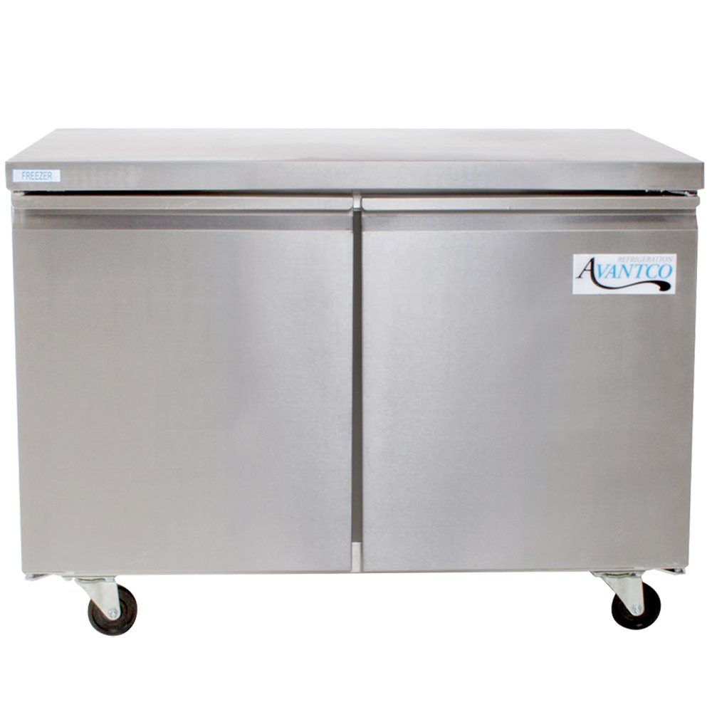 Avantco ss uc 48f hc 48 undercounter freezer for Table top freezer