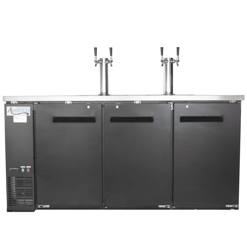 Avantco UDD-72-HC (2) Double Tap Kegerator Beer Dispenser - Black ...