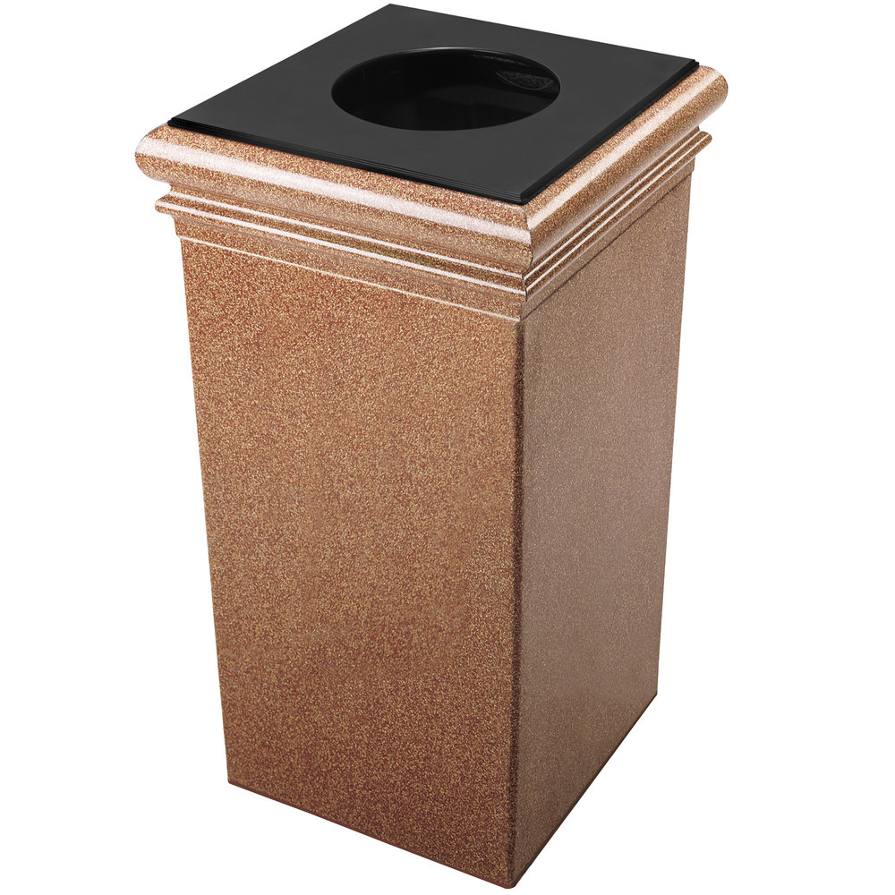 Commercial Trash Bin Sizes : Commercial zone stonetec gallon sedona square