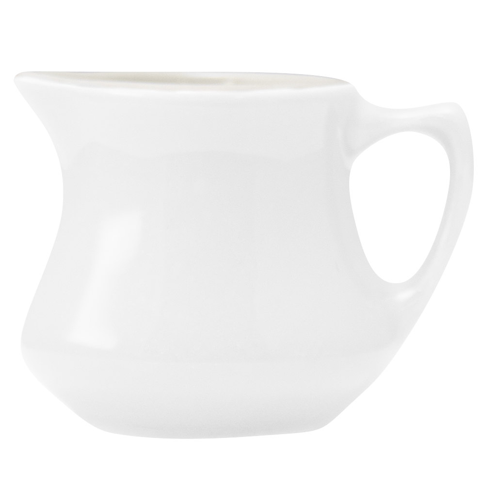 Hall China 1950ABWA Bright White 3.5 oz. Empire Creamer - 24/Case