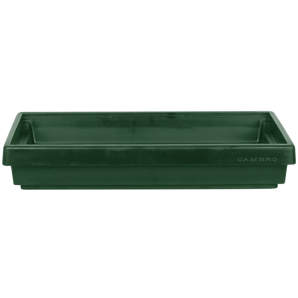 "Cambro BUF48 42"" x 24"" x 7"" Green Buffet Bar Base"