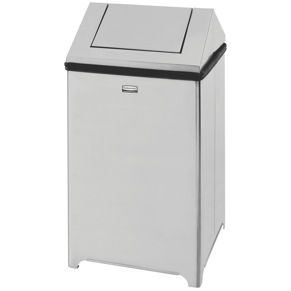 rubbermaid fgt1414ssrb wastemaster stainless steel swing top 14 gallon trash can. Black Bedroom Furniture Sets. Home Design Ideas