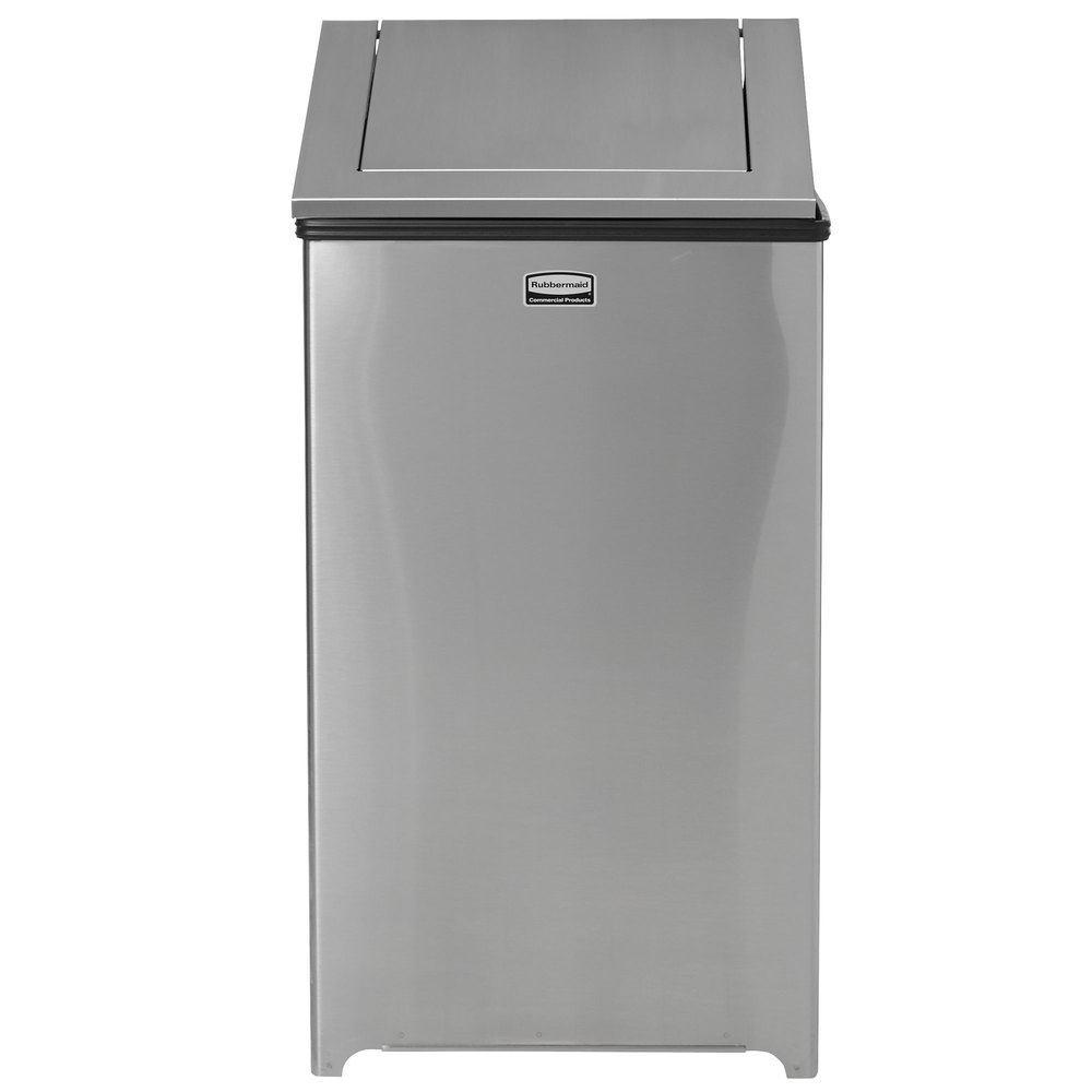 rubbermaid fgt1940sspl wastemaster stainless steel swing top 29 gallon trash can. Black Bedroom Furniture Sets. Home Design Ideas