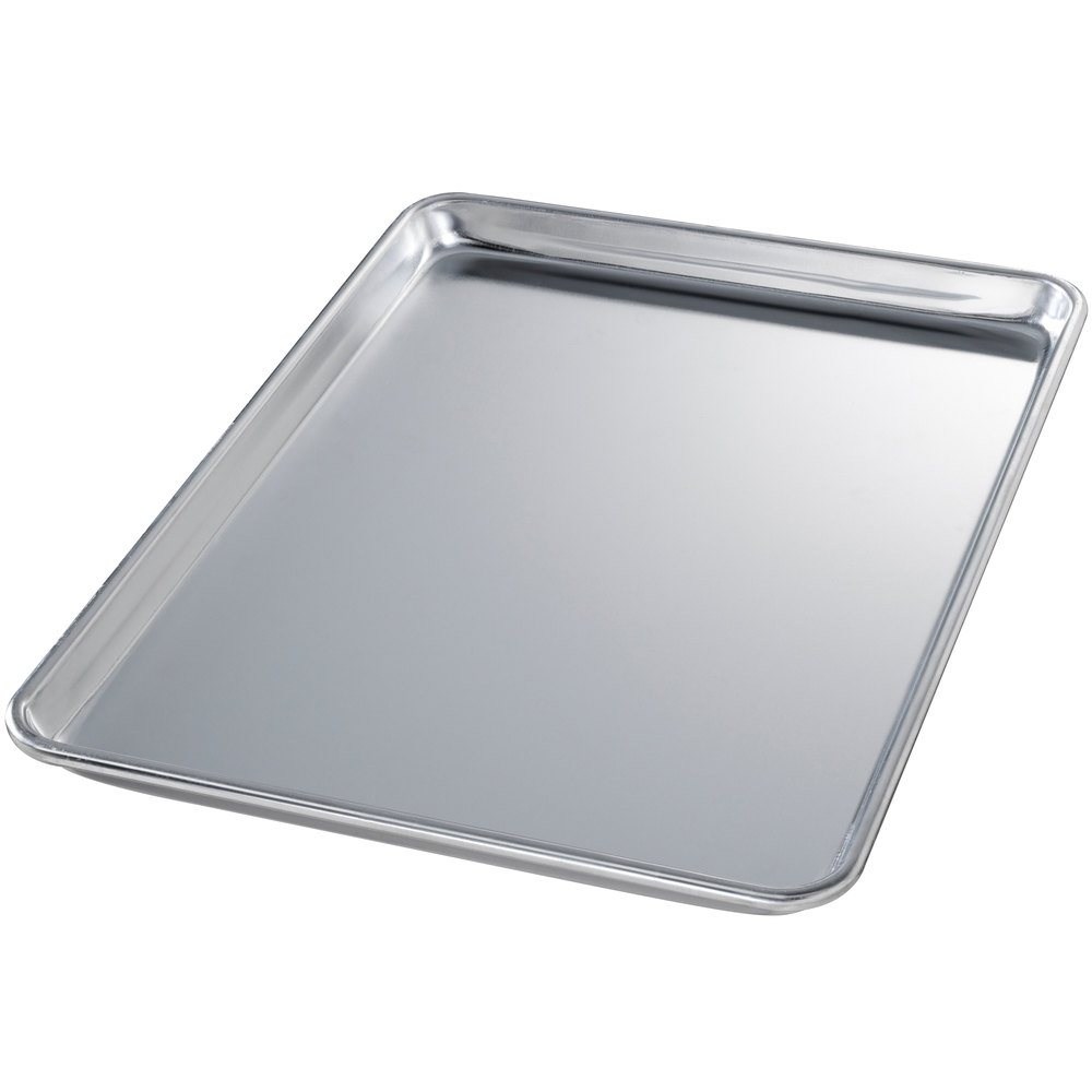 "Chicago Metallic 40850 Half Size 18 Gauge Aluminum Sheet Pan - Wire in Rim, 13"" x 18"""
