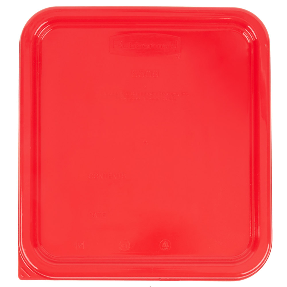Rubbermaid 1980200 Color Coded 2 4 6 And 8 Qt Red