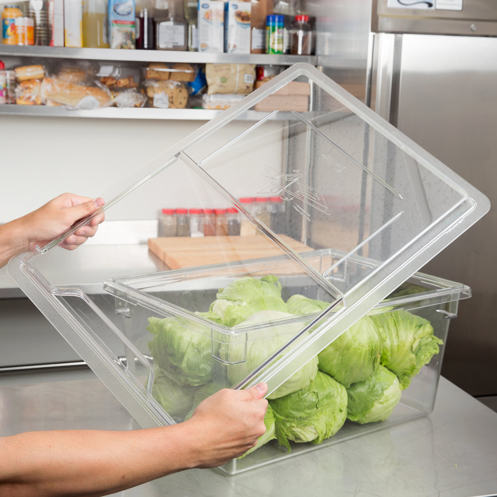 "Cambro 1826SCCW135 Clear Camwear Sliding Lid for Food Storage Box 18"" x 26"""