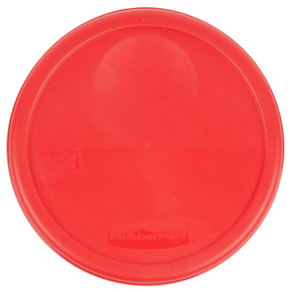 Rubbermaid 1980260 Color Coded 6 And 8 Qt Red Round Food
