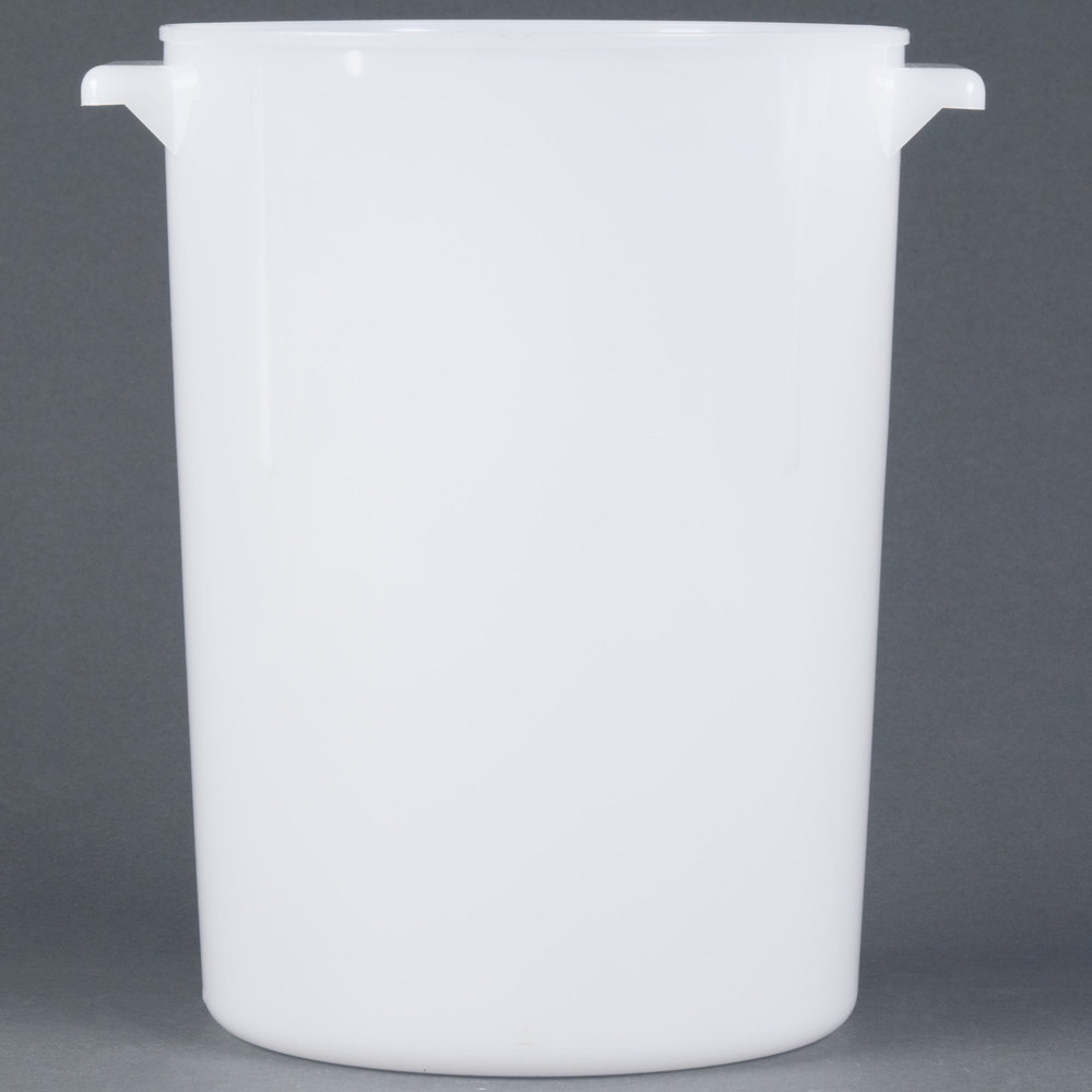 Carlisle 080002 8 Qt. White Round Food Storage Container
