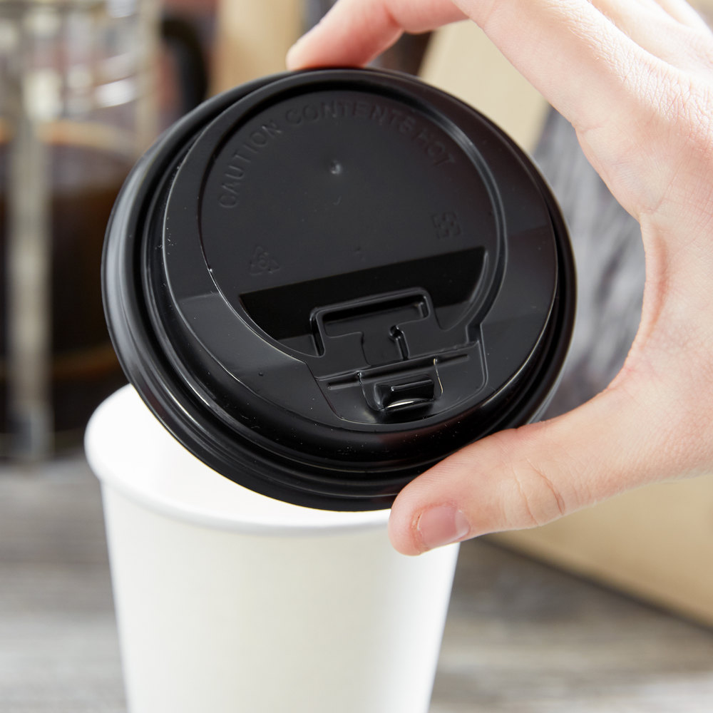 Cup With Lid : Choice and oz black hot paper cup travel