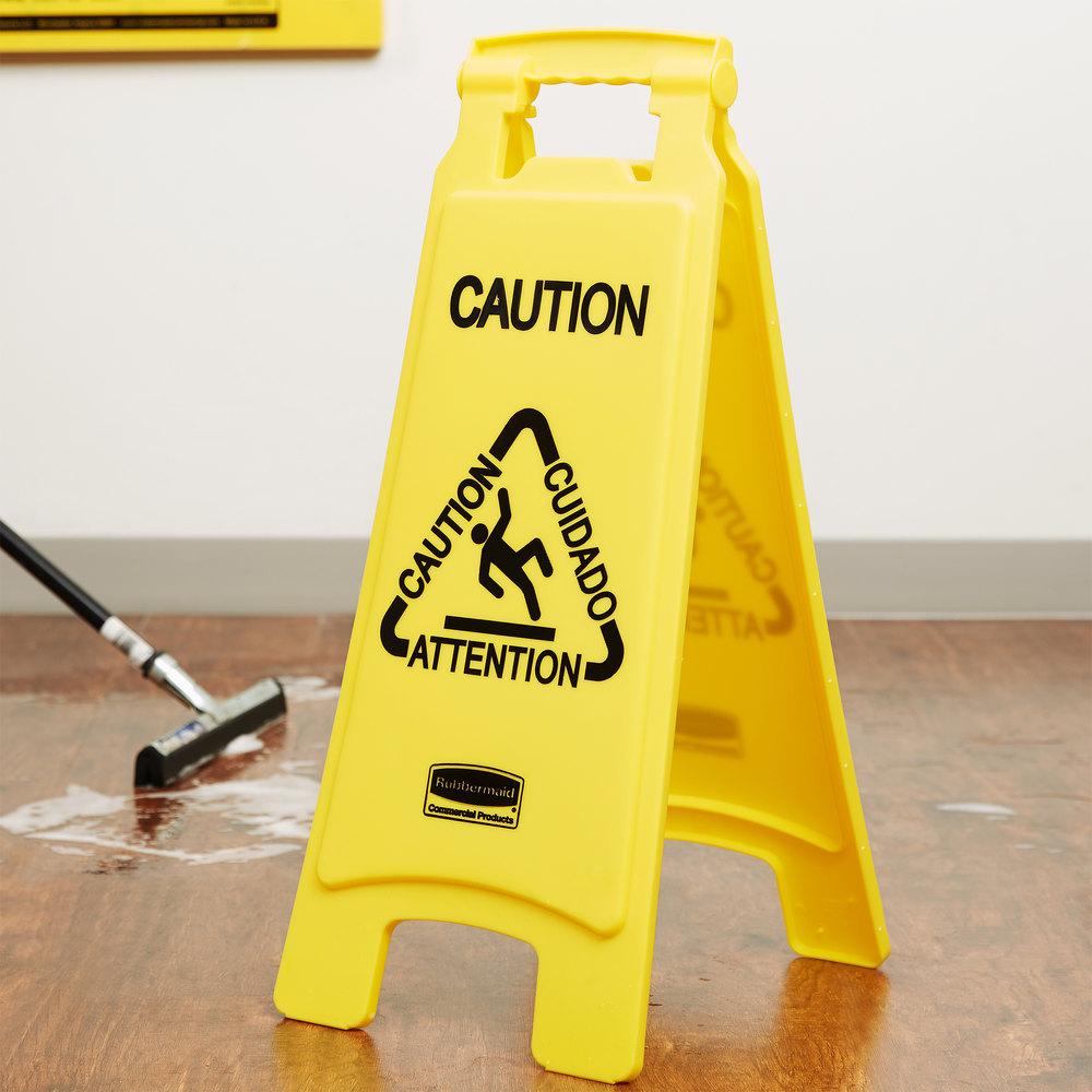Caution wet floor sign image floor matttroy for Floor banner