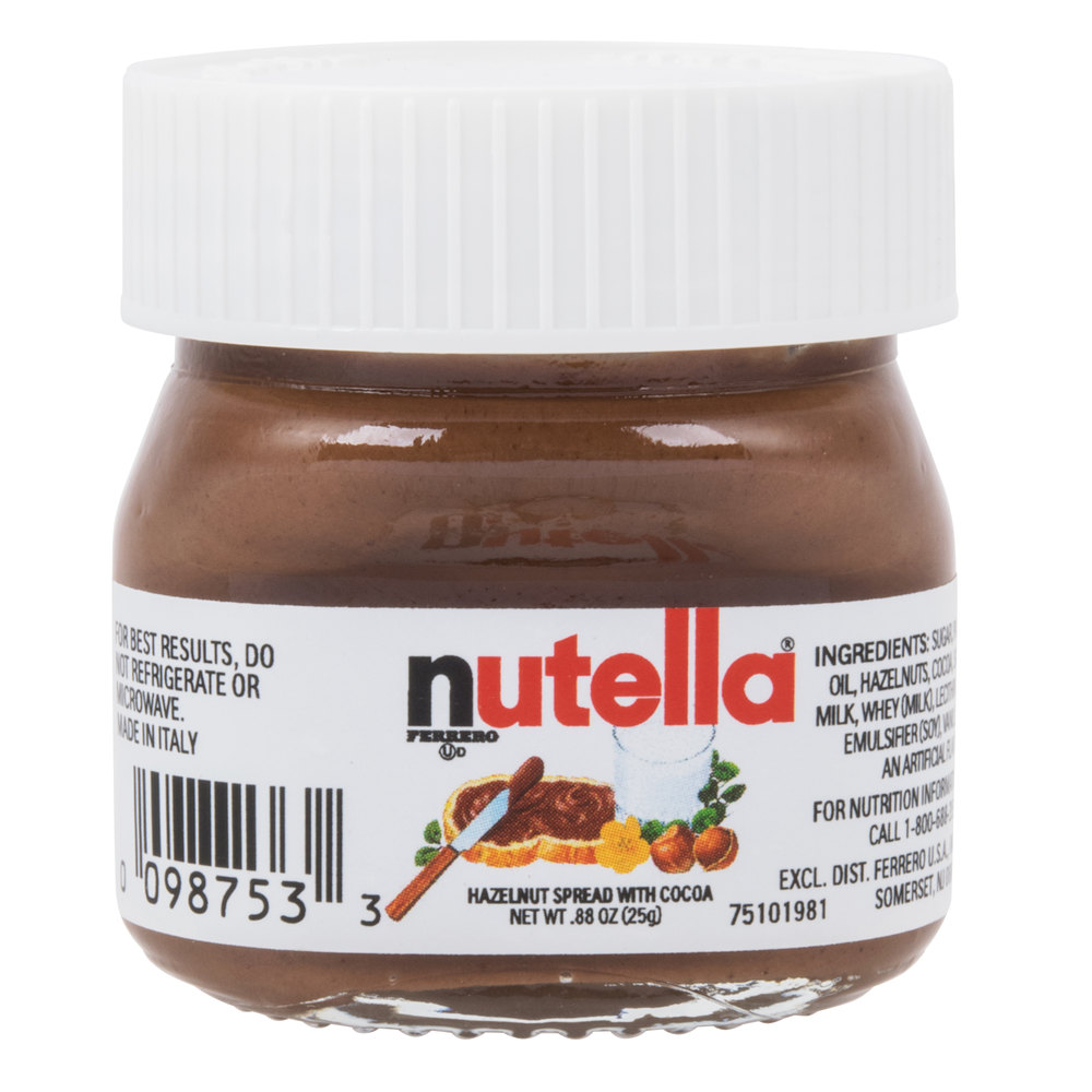 Mini Nutella Jars 88 Oz 64case
