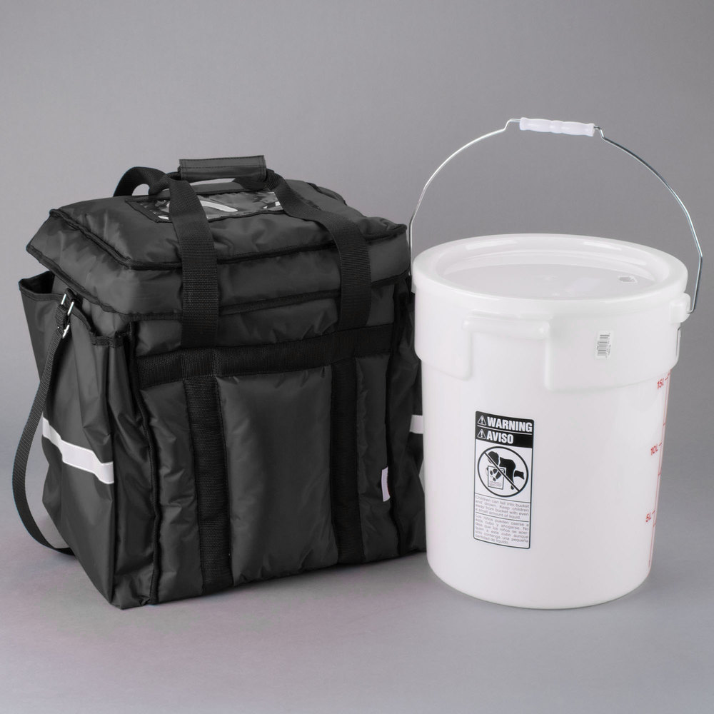 Servit Heavy Duty Insulated Food Delivery Bag Black Soft