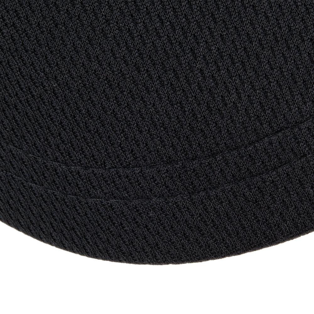 Black Visor with High Performance Fabric