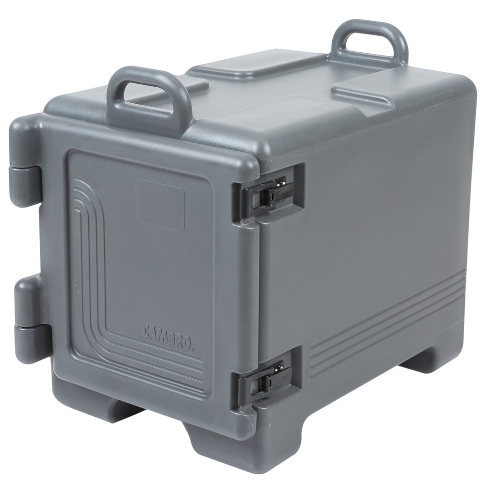 Cambro Upc300615 Ultra Pan Carrier 174 Charcoal Gray Front