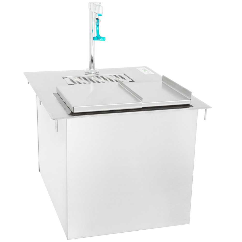 Regency Stainless Steel Water Station with Ice Bin - 21 inch x 18 inch
