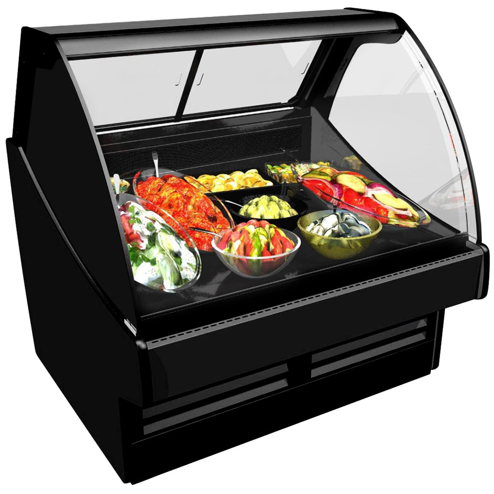 "Structural Concepts GLDS12R Fusion 148 1/2"" Curved Glass Refrigerated Deli Display Case"