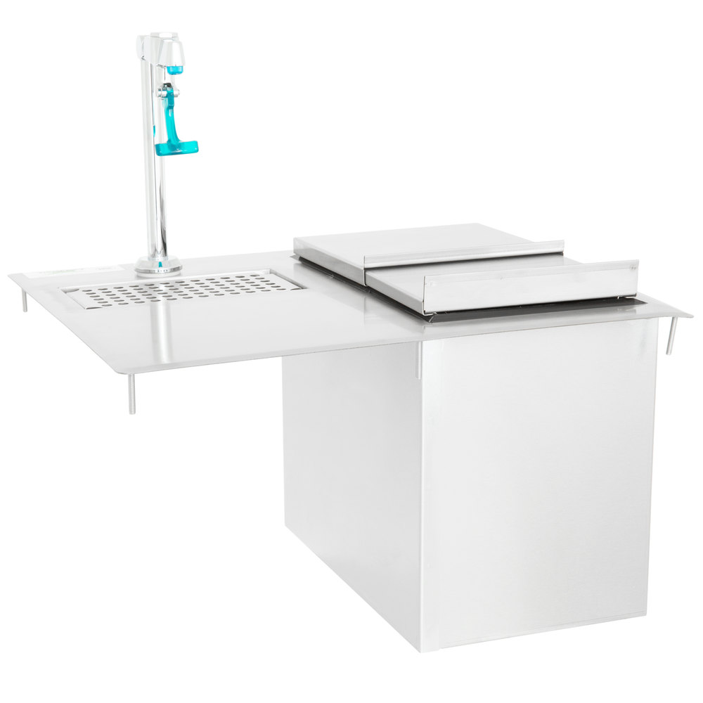Regency Stainless Steel Water Station with Ice Bin - 18 inch x 21 inch