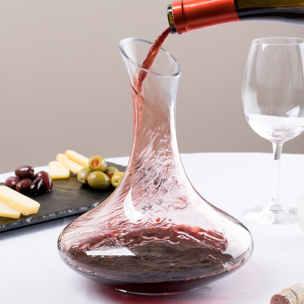 how to clean a glass wine decanter