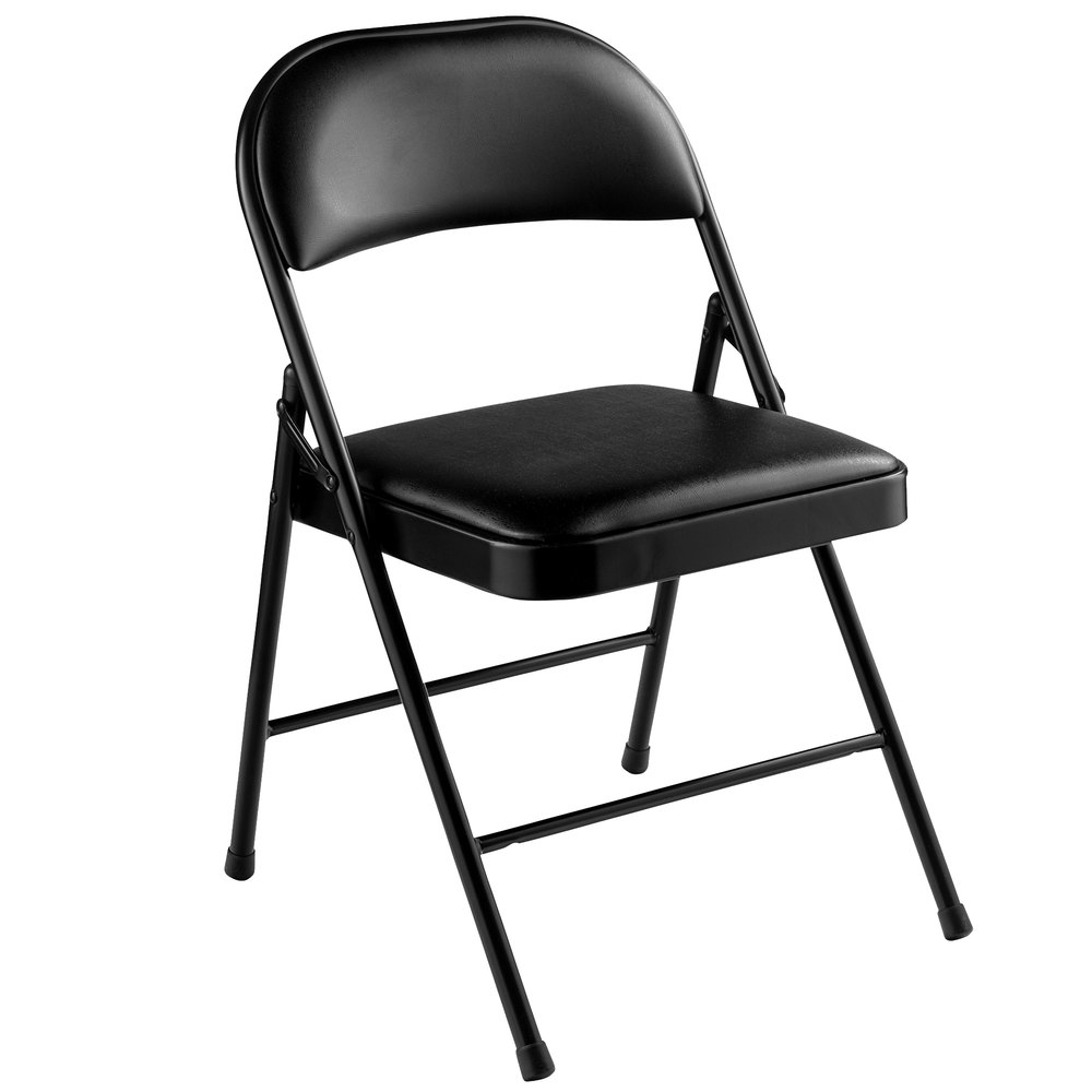 Black Metal Folding Chairs national public seating 950 commercialine black metal folding