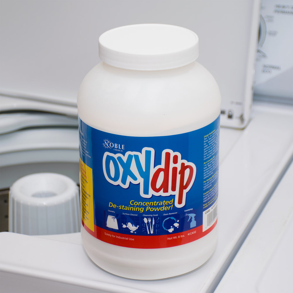 8 lb. Noble Chemical Oxy Dip Bleach Presoak and Destainer - 4/Case