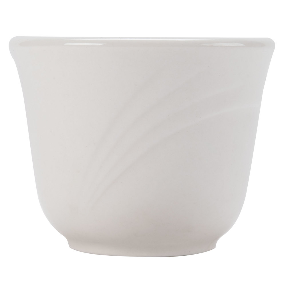 CAC GAD-45 Garden State 4.5 oz. Bone White Porcelain Cup - 72/Case