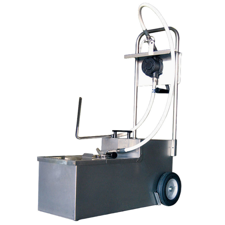 MirOil HOD1050 105 lb. Fryer Oil Hand Operated Filter Machine and Discard Trolley