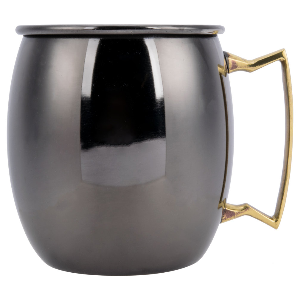 American Metalcraft Bm16p 16 Oz Black Moscow Mule Mug With Mirror Finish