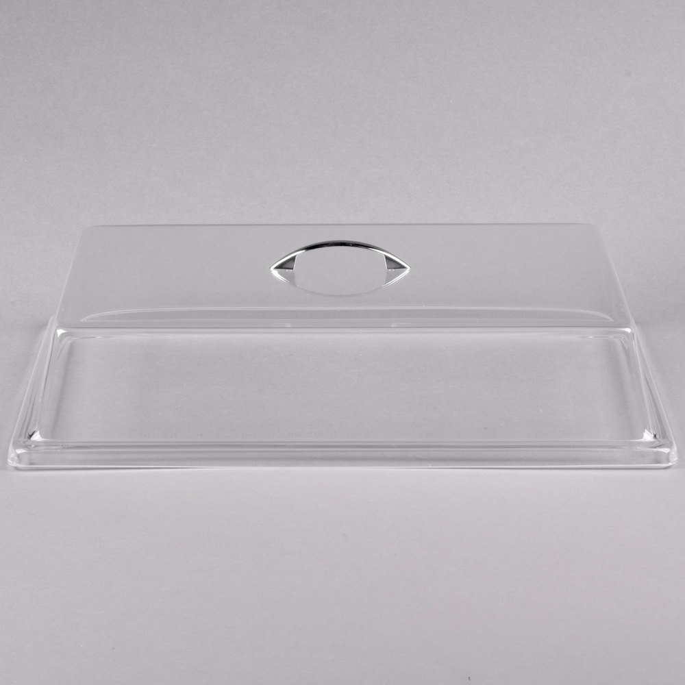 "Cal-Mil 333-10 Clear Standard Rectangular Bakery Tray Cover - 10"" x 14"" x 4"""