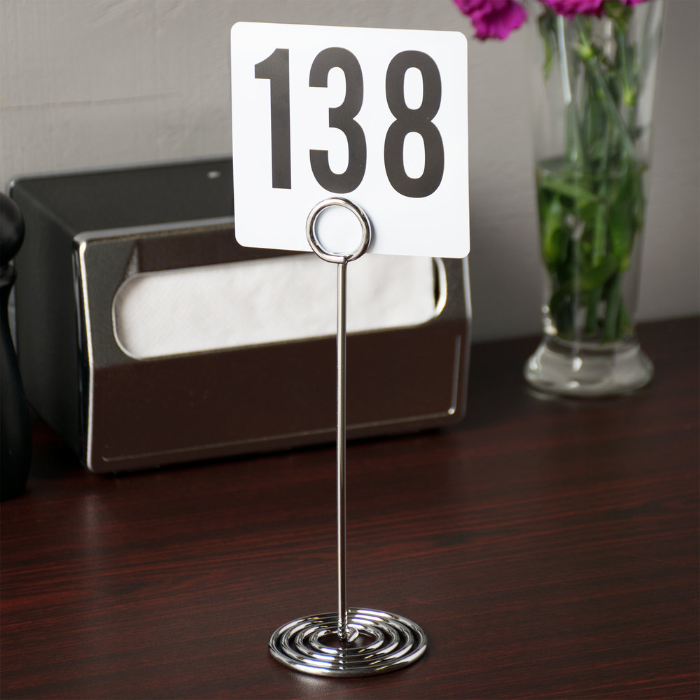 "American Metalcraft NSC8 8"" Chrome Swirl Base Number Stand"