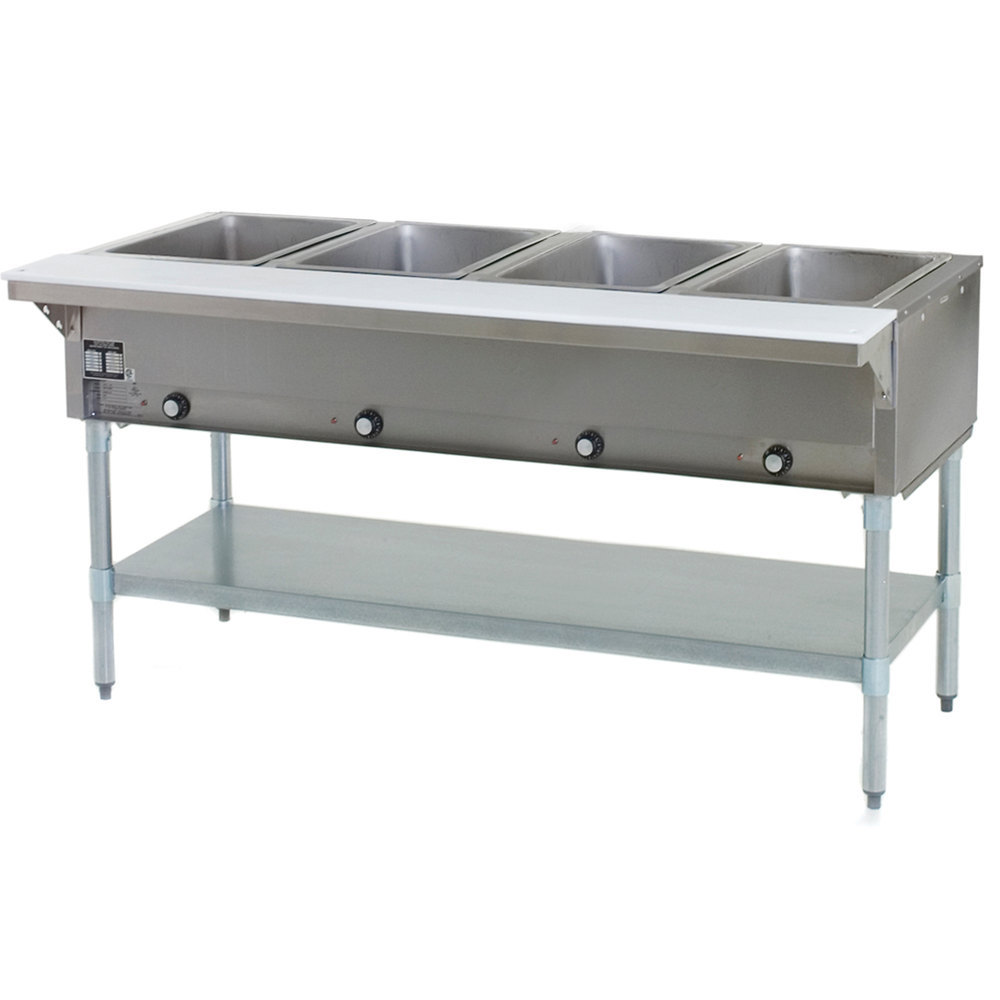 240V Eagle Group SHT4 Steam Table - Four Pan - Sealed Well