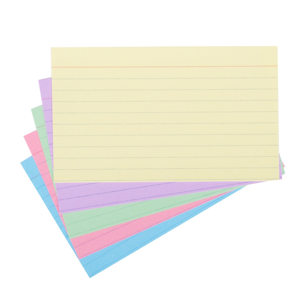 """Printing On Index Cards: Universal UNV47216 3"""" X 5"""" Assorted Color Ruled Index"""
