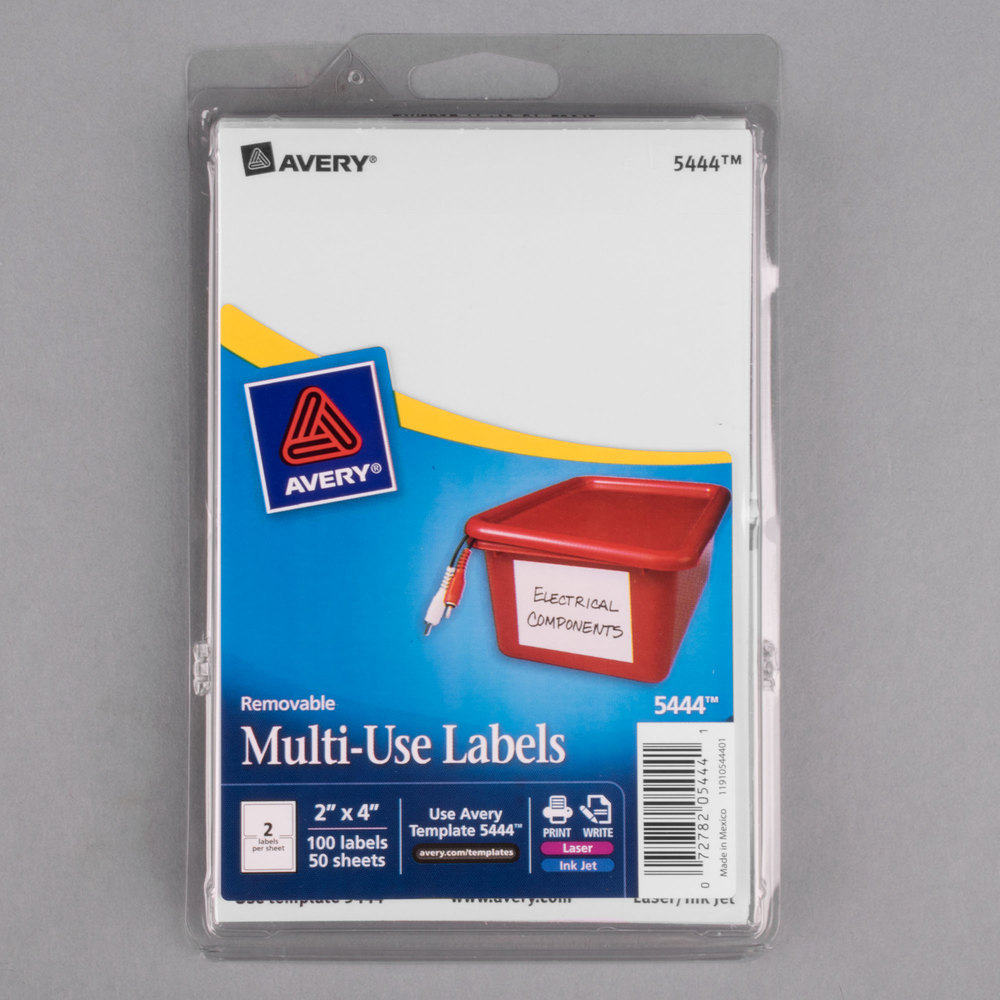 avery 5444 template - avery 5444 2 x 4 white rectangular removable write on