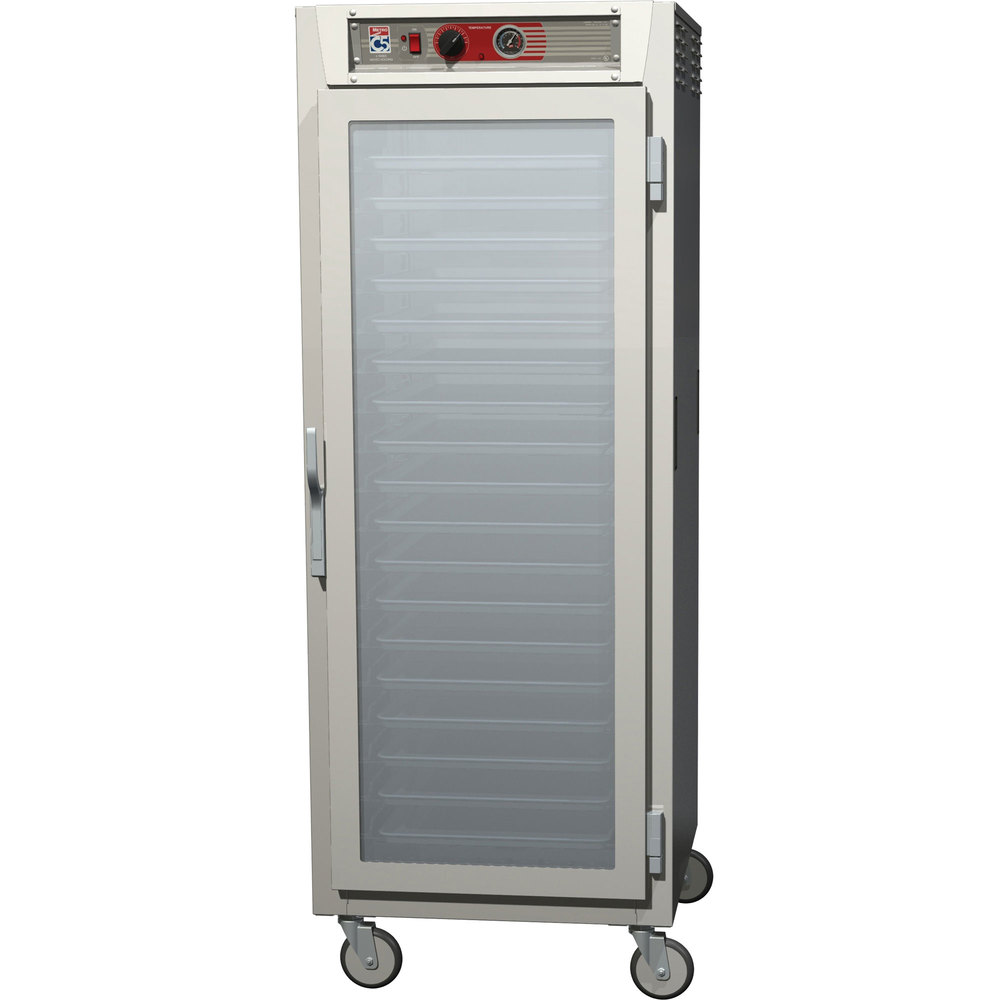Metro C569-NFC-UPFC C5 6 Series Full Height Reach-In Pass-Through Heated Holding Cabinet - Clear Doors