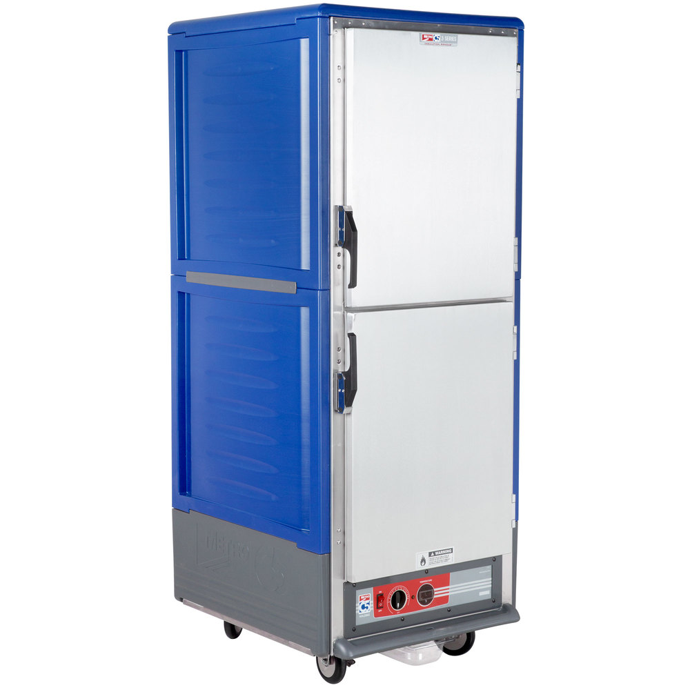 Metro C539-HDS-L-BU C5 3 Series Heated Holding Cabinet with Solid Dutch Doors - Blue